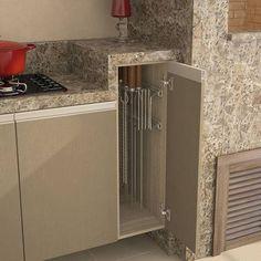 Foto 4 - Suporte Porta Espeto Lateral  Cromado Decor, Interior, Decor Design, House Styles, Home Decor, Home Deco, Home Kitchens, Modern Kitchen Design, Outdoor Kitchen