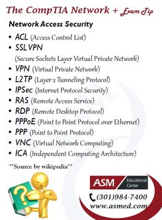 CompTIA Network+ Training / Exam Tip -  Network Access Security. For more information to Become Certified for CompTIA Network+  Please Repin and  Check out : http://www.asmed.com/comptia-network/