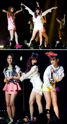 4Minute at United Cube Concert performance in Jamsil Stadium 2013 ❤️ Members of this girlsband are looking soooo happy on this pic ❤️