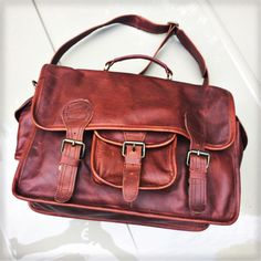 The Harvard leather satchel from MAHI Leather. Mahi Mahi, Harvard, Leather Satchel, My Style, Brown, Bags, Vintage, Collection, Fashion