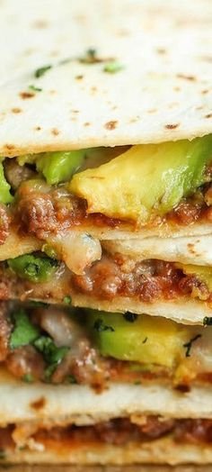 Cheesy Avocado Quesadillas - Damn Delicious