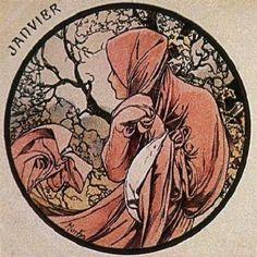 Janvier, Alphonse Mucha