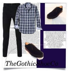 """""""TheGothicShoeCo 2"""" by nermina-cebic ❤ liked on Polyvore featuring McQ by Alexander McQueen, Whiteley, Banana Republic, men's fashion and menswear"""