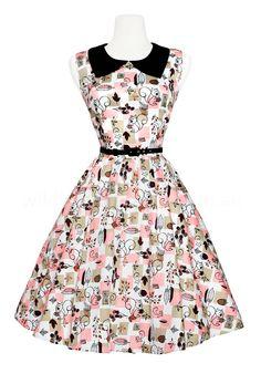 Pinup Girl Clothing Junebugs Dress - Squirrel Print
