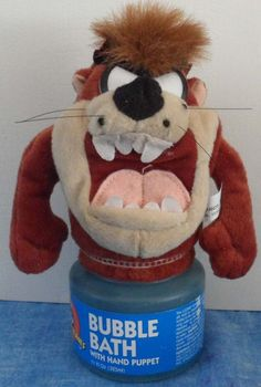 The Taz  by Warner Bros. Hand Puppet toy with Bubble Bath  1997   c12