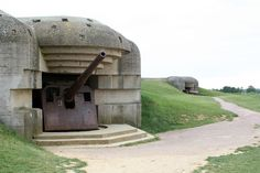 german WWII cannon Normandy France