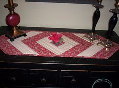 Quilted table runner. Mom loved making these :-)