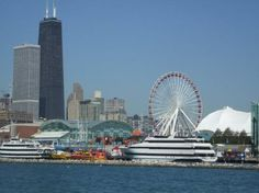 Navy Pier...Lots to do here.  Restaurants, shopping, boat rides...