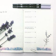 Lavender makes me happy #weeklyspread