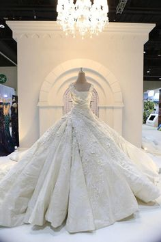 Amazing Ivory Ball Gown Wedding Dresses Sparkly Sequins Lace Applique Bridal Gowns Satin Tuched Sweep Train Wedding Gowns Custom Made Beautiful Wedding Gowns, Dream Wedding Dresses, Bridal Dresses, Beautiful Dresses, Jacy Kay, Fantasy Wedding, Wedding Attire, Camo Wedding, Casual Wedding