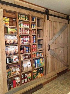 Are you looking for pictures for farmhouse kitchen? Browse around this site for cool farmhouse kitchen ideas. This unique farmhouse kitchen ideas seems to be entirely terrific. Rustic Kitchen Cabinets, Kitchen Pantry, Kitchen Storage, Pantry Storage, Food Storage, Pantry Organization, Diy Kitchen, Barn Kitchen, Kitchen Wood