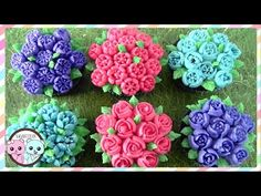 RUSSIAN PIPING TIPS: BUTTERCREAM FLOWERS - SUGARCODER - YouTube