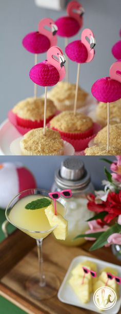 Tropical Party Ideas - beach decor, flamingo party, pineapple recipes