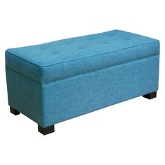 Threshold™ Large Tufted Storage Ottoman from Target (teal and navy)