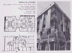 Edificio de viviendas Calle Galileo, 111-113, esquina calle Rosés, 67-69 Oriol Bohigas Guardiola Josep M.a Martorell Codina David Mackay Goodchild Proyecto : 1967 Terminación: 1970