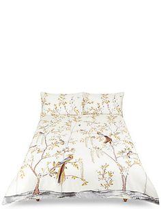 Aurelia Print & Embroidered Bedding Set   M&S