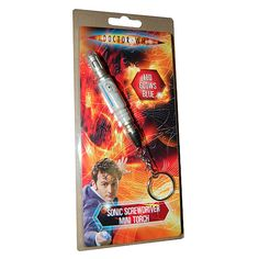 Doctor Who Sonic Screwdriver LED Flashlight Keychain  http://www.entertainmentearth.com/prodinfo.asp?number=UTDR65=LY-012045602