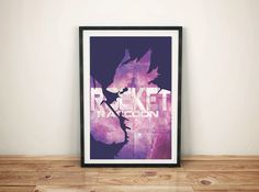 Rocket Raccoon Guardians of the galaxy Print by GreyFoxDesign