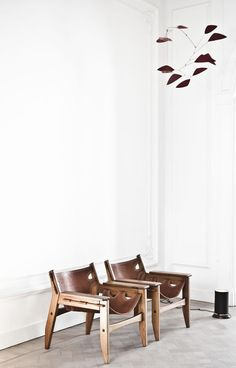 Two great chairs from a house designed by architect Vincent van Duysen #home #decor: