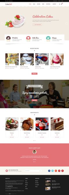 Joomla Bakery & Cake Template – Cake Art fits for cake shop w/ recipes which brings great impression from the first sight to create #Joomla based #Cake #website.