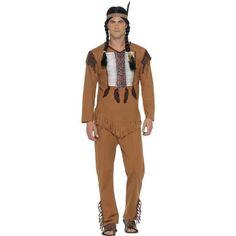 Men's Native American Inspired Warrior Costume