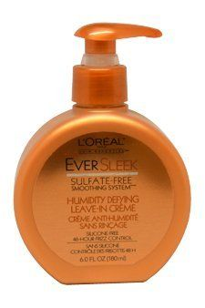 L'Oreal Paris EverSleek, Humidity Defying  Leave-In Crème, 6-Fluid Ounce by L'Oreal Paris. $7.74. Treatments are an essential part of a smoothing haircare regimen. When paired with EverSleek Shampoos and Conditioners, hair remains sleek, shiny and frizz-free for up to 48 hours. EverSleek Humidity Defying Leave-In Crème nourishes hair and protects the hair from humidity for frizz-free, soft and shiny hair in any kind of weather. Amazon.com                Treatments ar...
