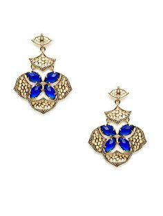 Inas Blue Geometric Cutout Drop Earrings by Kendra Scott Jewelry on Gilt.com #giftme
