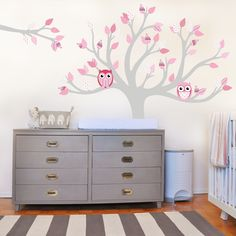 Tree with pattern leaves — Pinks in Kids Wall Stickers by Vinyl Impression
