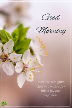 Good Morning. May God almighty bless you with a day full of joy and happiness.