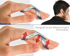 Nokia fit #concept – the index finger as a phone.