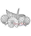 Deep Red Cling Stamp Seashells