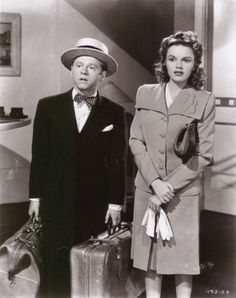"Judy Garland (June 10, 1922 – June 22, 1969) as Miss Betsy Booth and Mickey Rooney (September 23, 1920 - ) as Andrew 'Andy' Hardy in ""Life Begins for Andy Hardy"", 1941"