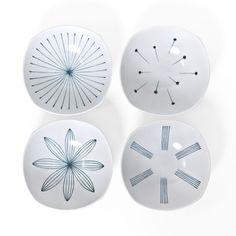 Modern Tokusa Shallow Bowls