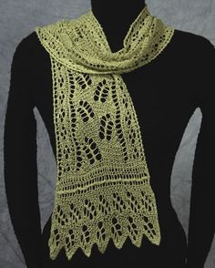 Leaves Scarf (Lacy Botanical Scarves) by Dorothy Siemens, Fiddlesticks Knitting