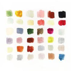 Oh autumn - Colour palette for autumn prints from Lili Pepper Designstudio.