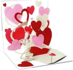 Valentijn - Pop up Wenskaart - POP996 Love Letter | Valentijn | kaartfanaat