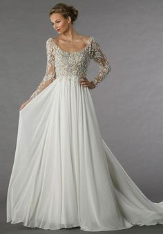 Romantic A-line Wedding Dress by Alita Graham - Image 1 zoomed in