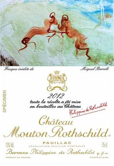 Mouton Rothschild 2012 fresque de Miquel Barcelo deux béliers symbole du domaine 10425871_10152413139711434_4849188056672253446_n