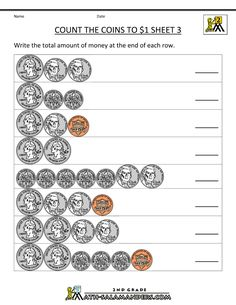 counting money worksheets 1st grade first grade pinterest counting money worksheets money. Black Bedroom Furniture Sets. Home Design Ideas