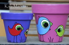Lynda's Scrappy Place: My Hand Painted Flower Pot People - tokia Flower Pot Art, Flower Pot Design, Mosaic Flower Pots, Mosaic Pots, Flower Pot Crafts, Clay Pot Crafts, Painted Plant Pots, Painted Flower Pots, Flower Pot People