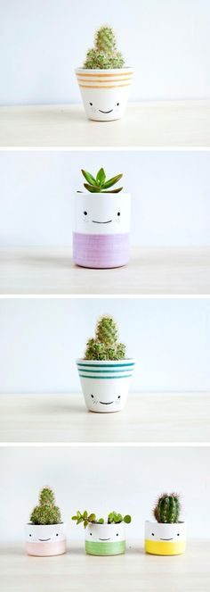 Clever Ceramic Pottery Painting Ideas to Inspire Your Next Project, Diy And Crafts, Best Ceramic Pottery Painting ideas for DIY project design and inspiration. This collection of ceramic pottery painting examples is for anyone looking. Diy Décoration, Diy Crafts, Easy Diy, Suculentas Diy, Ideias Diy, Painted Pots, Ceramic Painting, Diy Painting, Painting Flowers