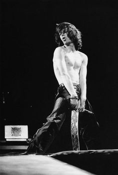 Mick Jagger on stage.