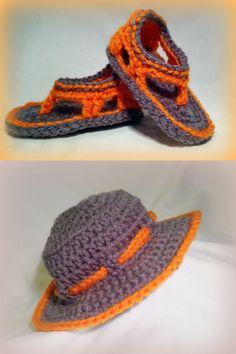Crochet baby boy sandals flip flop shoes & sun by FreshOffTheeHook, $25.00