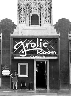 The Frolic Room an old school hollywood bar with a a mural featuring caricatures of various famous faces as rendered by the great Al Hirschfeld