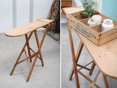イギリスアンティークアイロン台作業台 オールドパインG 852 インテリア 雑貨 家具 Antique pine wood ¥18000yen 〆05月06日