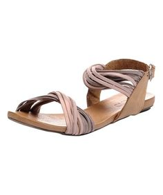 Loving this Beige Murty Leather Sandal on #zulily! #zulilyfinds
