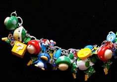 A beautiful Super Mario Brothers bracelet.