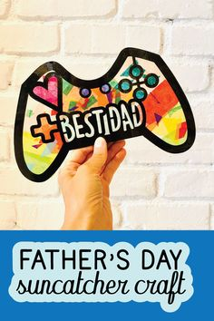 Do you have a video game loving dad? This suncatcher kit has everything kiddos need to make their dad a unique Father's Day gift! Handmade Father's Day Gifts, Diy Father's Day Gifts, Father's Day Diy, Fathers Day Art, Fathers Day Gifts, Fathers Day Craft Toddler, Father's Day Video, Video Game, Best Dad Gifts
