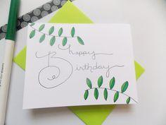 Birthday Card Happy Birthday Card by happydoodlesbykatie Homemade Birthday Cards, Birthday Cards For Friends, Happy Birthday Greeting Card, Sister Birthday, Homemade Cards, Happy Doodles, Happy Wishes, Card Designs, Card Ideas