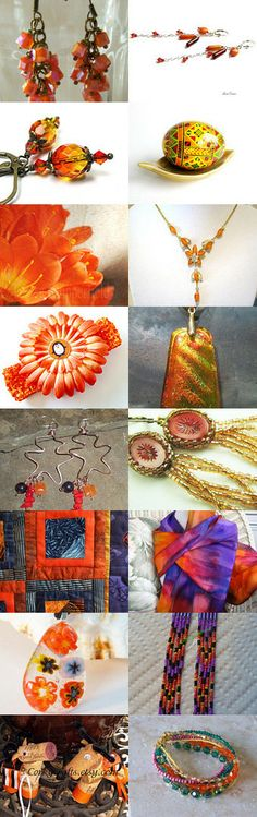 Orange by Kathi Demaret on Etsy--Pinned with TreasuryPin.com #handmade #lacwe #jewelry #décor #fineart